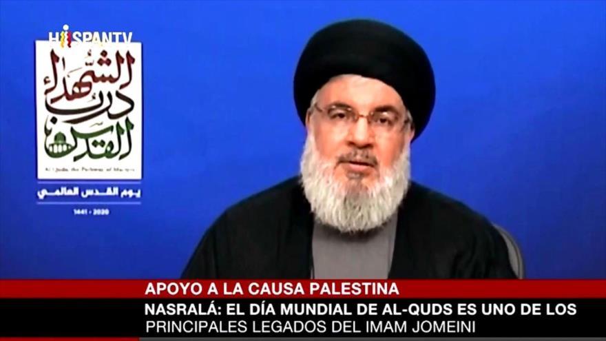 Nasralá: Estamos más cerca que nunca de la liberación de Al-Quds | HISPANTV