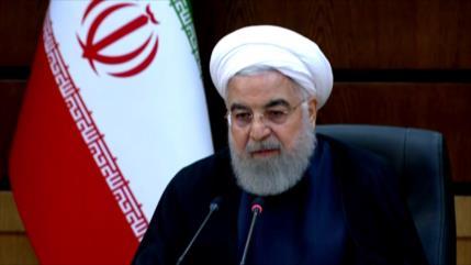 Rohani: Ni coronavirus ni EEUU arrodillarán a la nación iraní