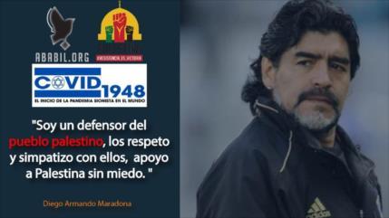 """Maradona dice que apoya a Palestina y su causa """"sin miedo"""""""