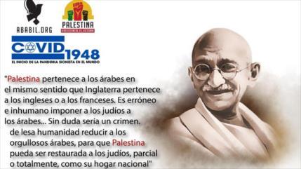 Gandhi: Palestina es para palestinos como R. Unido es para británicos