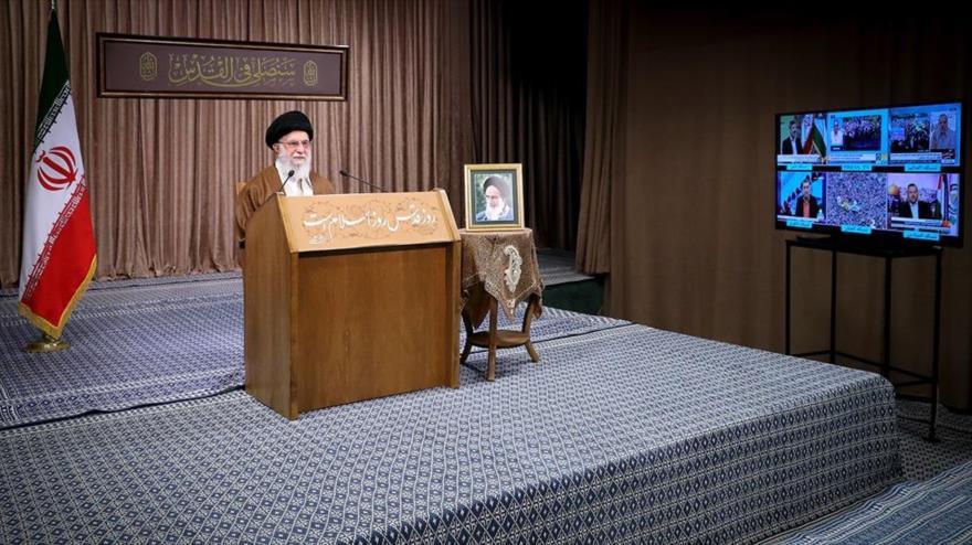 Medios cubren el discurso del Líder de Irán por el Día de Al-Quds