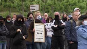 En Europa protestan contra el confinamiento