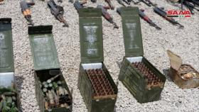 Fotos: Siria confisca armas de terroristas en el oeste de Daraa