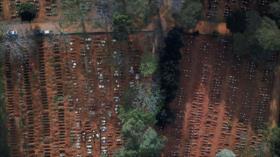 Cavan centenares de fosas comunes en Brasil mientras avanza el virus