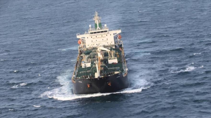 El petrolero Fortune de pabellón iraní cerca de las costas de Venezuela.