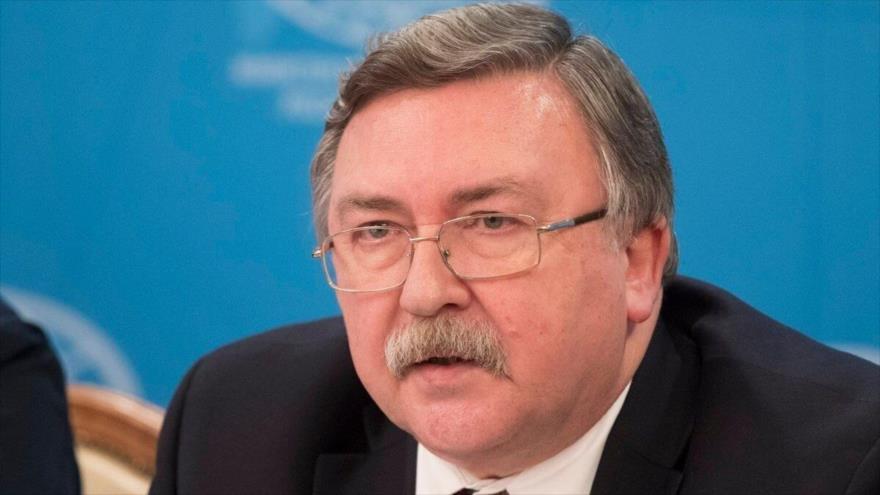 El representante permanente de Rusia ante las organizaciones internacionales radicadas en Viena (capital deAustria), Mijaíl Uliánov.