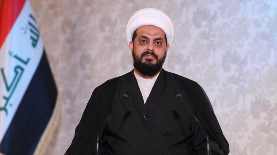 El líder del grupo iraquí Asaib Ahl al-Haq, Qais al-Jazali. (Foto: Al-Ahad)