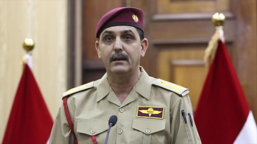 El portavoz del Mando de Operaciones Conjuntas del Ejército iraquí,el general de brigada Yahya Rasul.