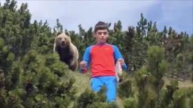 Video: Un niño se topa con un oso y reacciona como un profesional