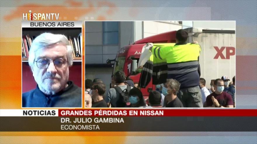 Gambina: España sopesa nacionalizar Nissan para salvar los empleos