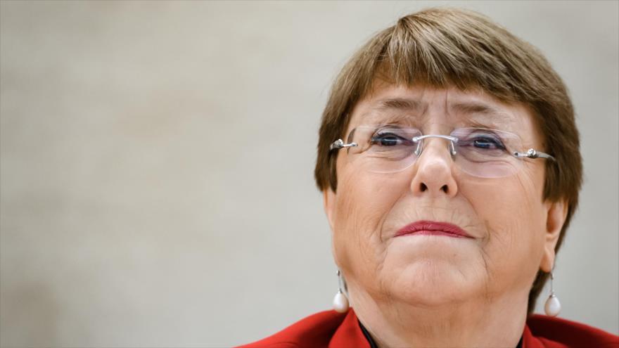 La alta comisionada de las Naciones Unidas para los Derechos Humanos, Michelle Bachelet, en una sesión en la sede la ONU en Ginebra, 24 de febrero de 2020. (Foto: AFP).
