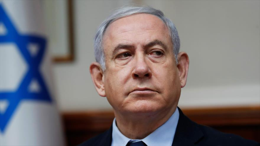 El primer ministro israelí, Benjamín Netanyahu, durante una reunión de su gabinete en Al-Quds (Jerusalén), 9 de febrero de 2020. (Foto: AFP)