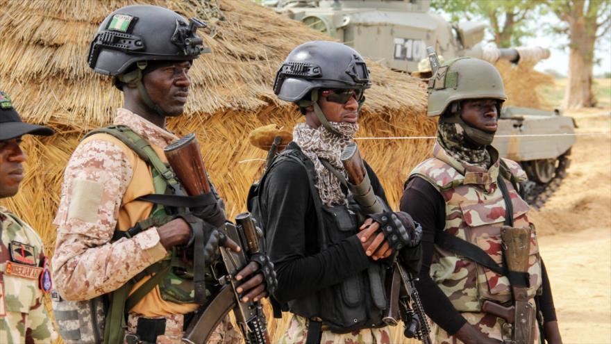 Los soldados del Ejército de Nigeria en una base en la ciudad nigeriana de Baga, 2 de agosto de 2019. (Foto: AFP)