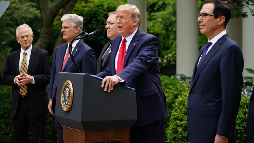 El presidente de EE.UU., Donald Trump, ofrece una conferencia de prensa en la Casa Blanca, 29 de mayo de 2020. (Foto: AFP)