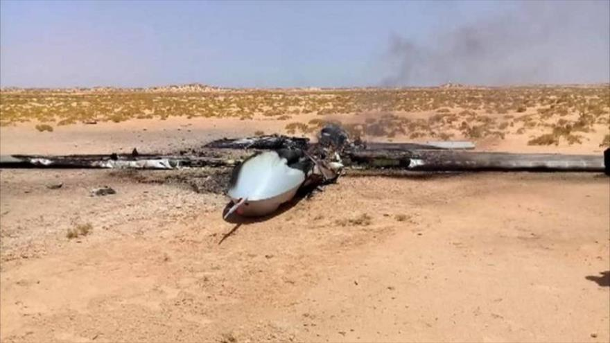 Un dron del Ejército turco derribado en Libia.