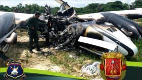 Fotos: Venezuela neutraliza dos narcoaeronaves colombianas