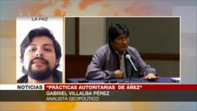 Pérez: Áñez recurre a represión por falta de legitimidad en Bolivia