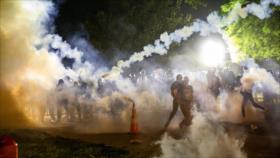 Caos y violencia policial contra manifestantes ante la Casa Blanca