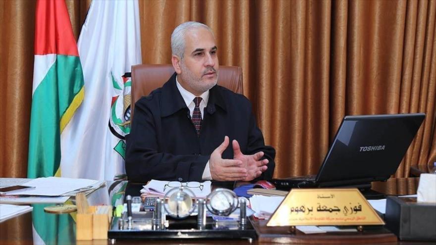 Fawzi Barhum, un portavoz del Movimiento de Resistencia Islámica de Palestina (HAMAS).