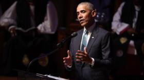 Obama: Manifestantes de EEUU son valientes y no merecen represión