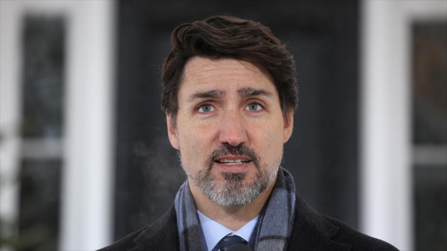 20'' de silencio de Trudeau dicen qué piensa de Trump y protestas