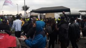 Colombianos protestan contra envío de militares de EEUU