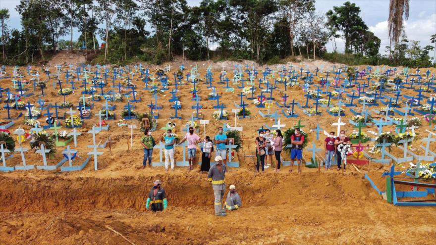 Brasil ya se convierte en tercer país con más muertes por COVID-19
