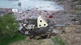 Vídeo: Deslizamiento de tierra se lleva 8 casas al mar en Noruega