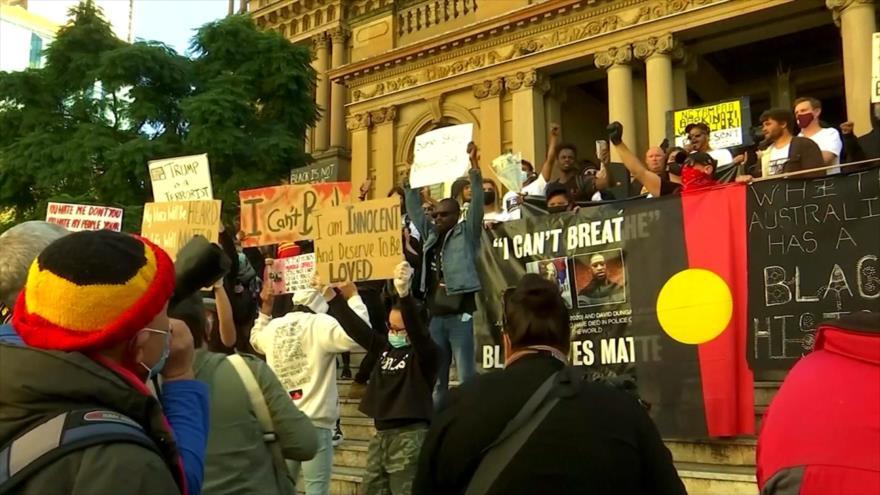 Protesta global contra racismo y brutalidad policial en EEUU | HISPANTV
