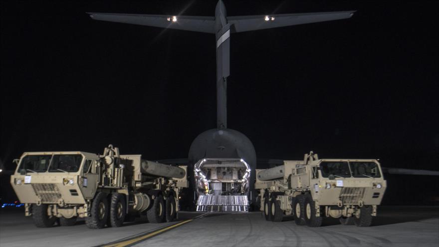 Sistemas antimisiles THAAD, de fabricación estadounidense.