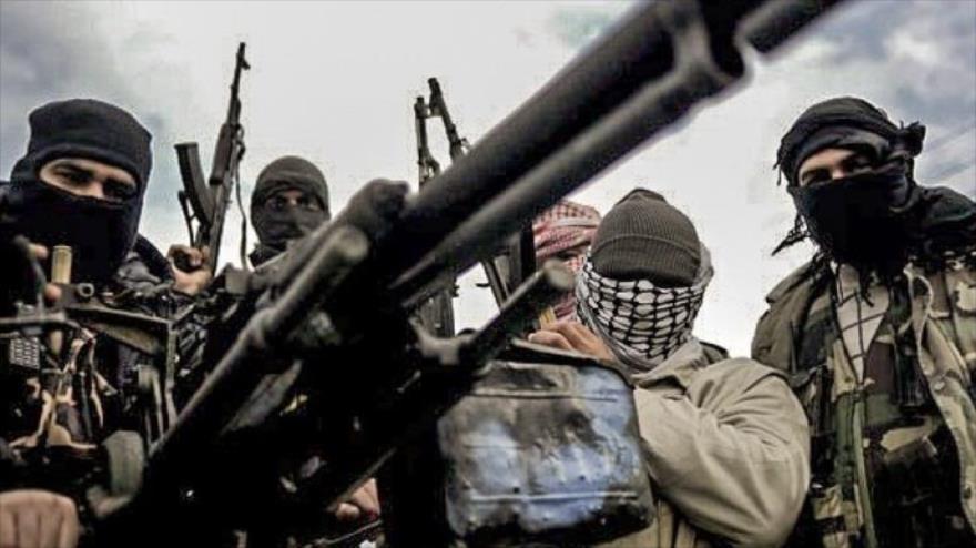 Miembros de grupos terroristas en Siria.