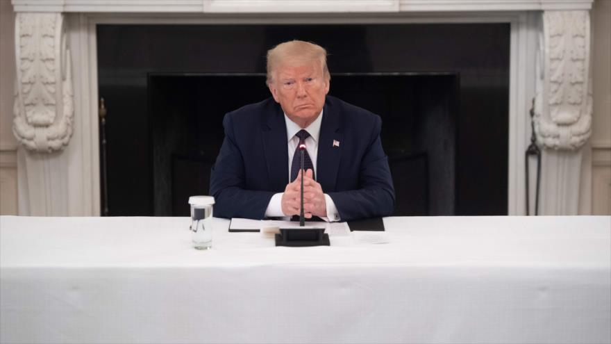 El presidente de EE.UU., Donald Trump, en la Casa Blanca, Washington, 8 de junio de 2020. (Foto: AFP)