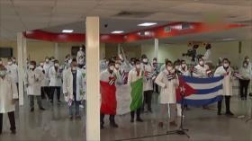 Arriba a Cuba brigada médica que combatió la COVID-19 en Italia