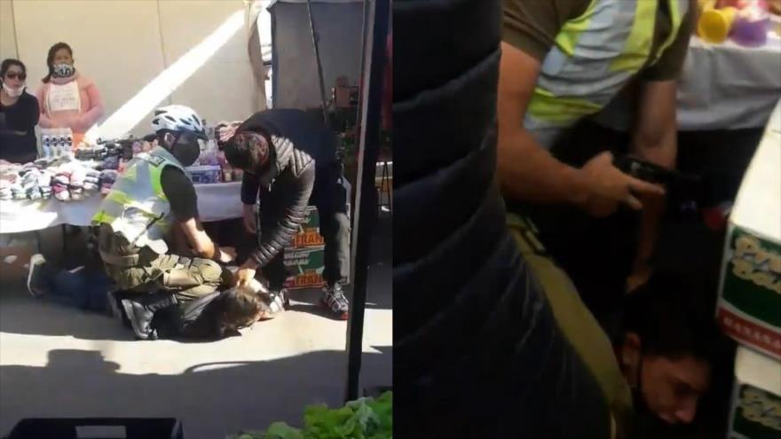 Vídeo: Carabineros detienen con método rodilla al cuello a un joven | HISPANTV