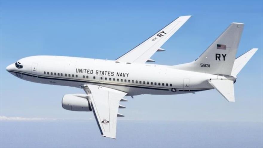 Un avión de transporte estadounidense de uso militar Boeing C-40A Clipper.