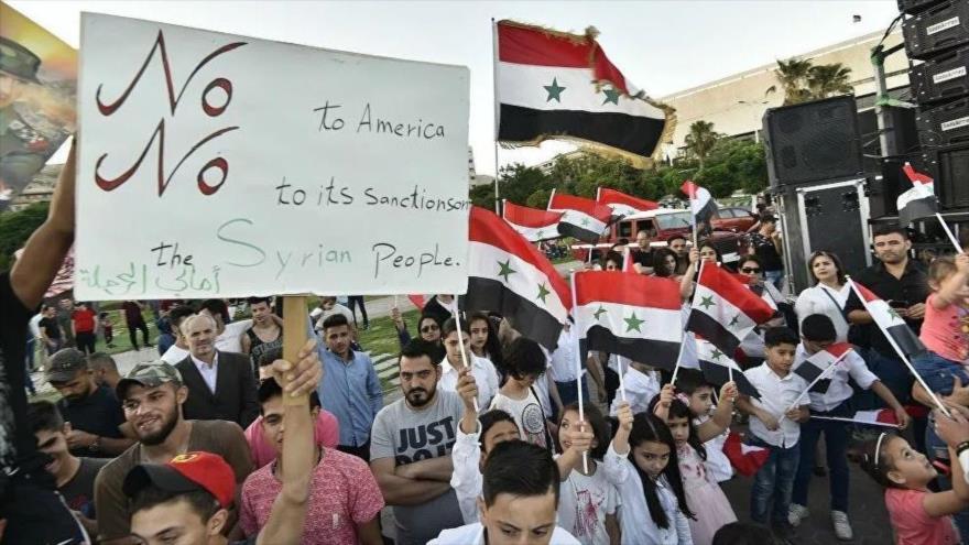 Vídeo: Miles de manifestantes sirios piden fin de sanciones de EEUU | HISPANTV