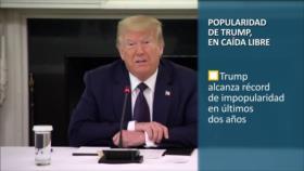 PoliMedios: Popularidad de Trump, en caída libre