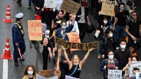 Indignados por asesinato de Floyd vuelven a protestar en Japón