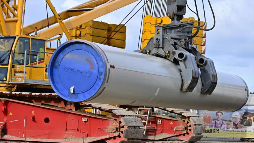 Parte de las obras de construcción del gasoducto Nord Stream 2 en Lubmin, noreste de Alemania, 26 de marzo de 2019. (Foto: AFP)
