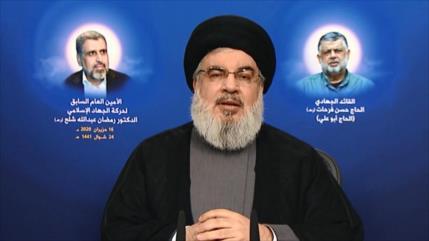 Líder de Hezbolá expresa condolencias por muerte de exlíder palestino