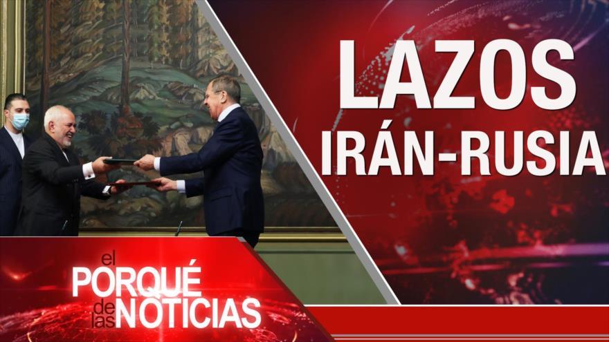 El Porqué de las Noticias: Lazos Irán-Rusia. Crisis económica de El Líbano. Crímenes de Arabia Saudí en Yemen