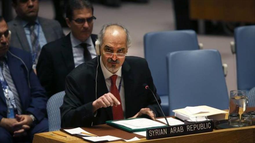 El embajador sirio ante la Organización de las Naciones Unidas (ONU), Bashar al-Yafari.