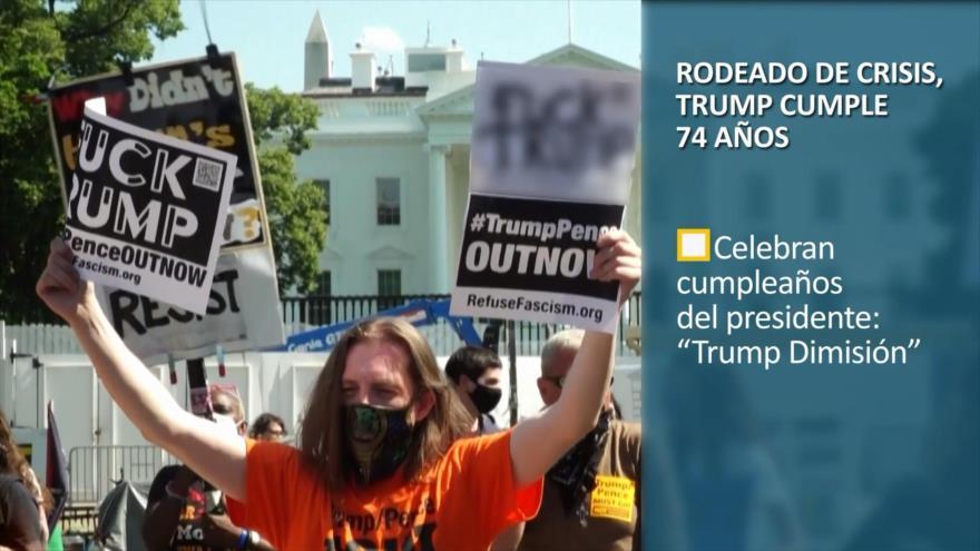 PoliMedios: Rodeado de crisis, Trump cumple 74 años