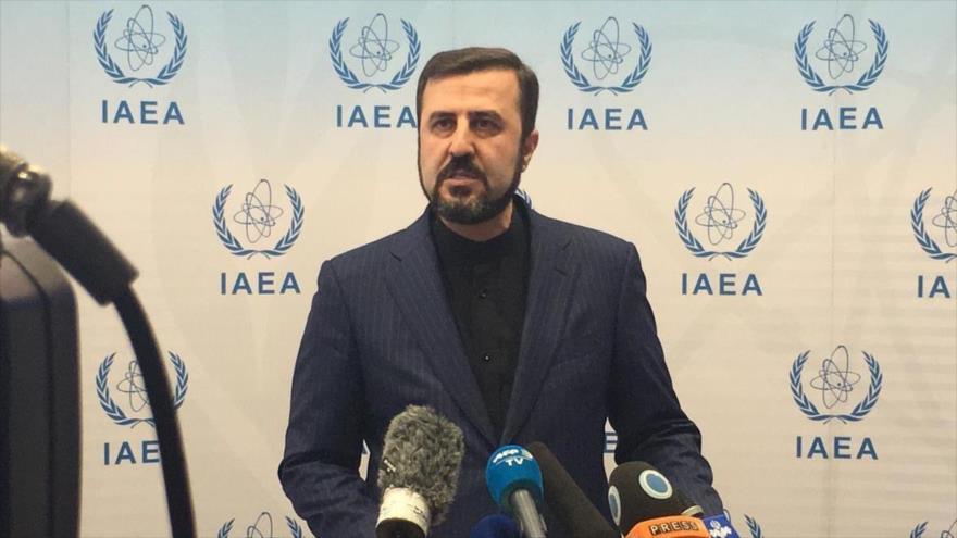 El representante permanente de Irán ante la Agencia Internacional de Energía Atómica (AIEA), Kazem Qaribabadi.