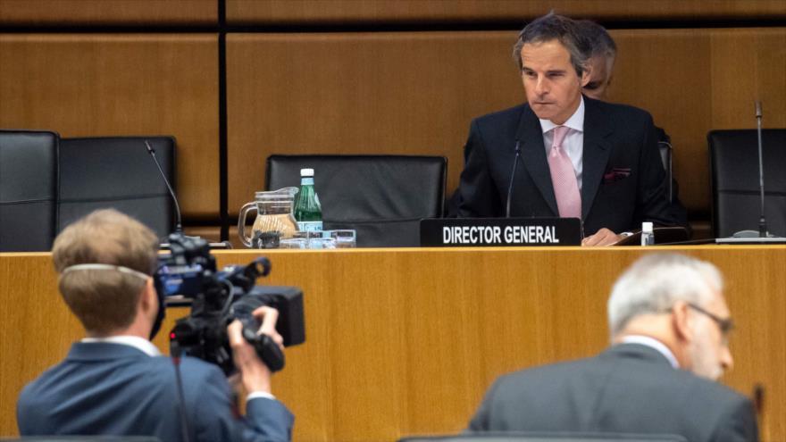 Rafael Grossi, director general de la AEIA en una reunión virtual de la Junta de Gobernadores en Viena, Austria, 15 de junio de 2020. (Foto: AFP)