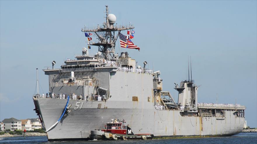 El buque de desembarco anfibio Oak Hill de la Marina de Estados Unidos.
