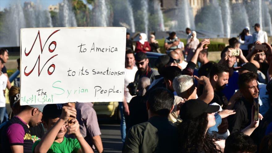 FEARAB-América condena criminal bloqueo de EEUU contra Siria