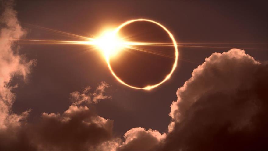 Un eclipse anular solar.