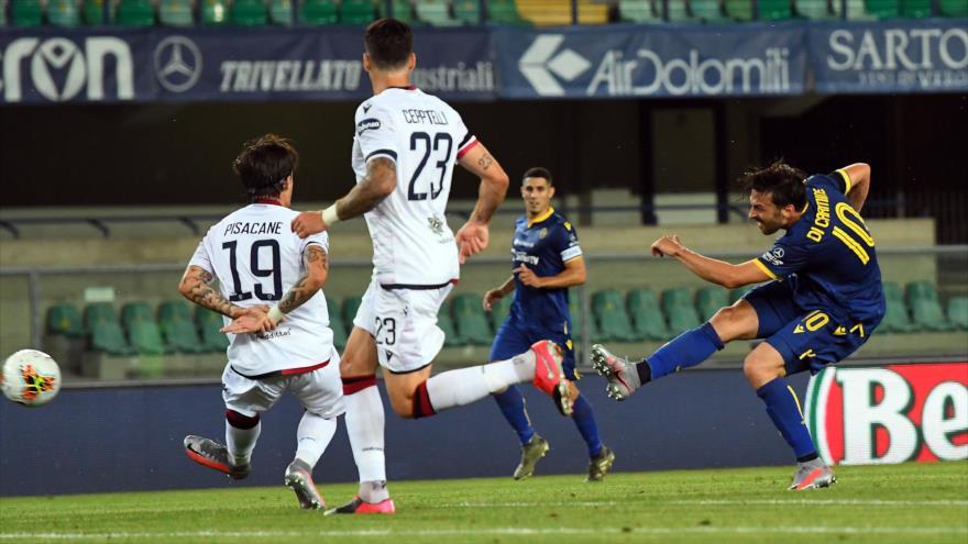 Delantero italiano marca un golazo en el reinicio de la Serie A