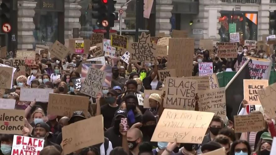 Protestan en Europa por asesinato de Floyd en EEUU